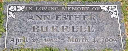 HOBBS BURRELL, ANN ESTHER - Yavapai County, Arizona | ANN ESTHER HOBBS BURRELL - Arizona Gravestone Photos