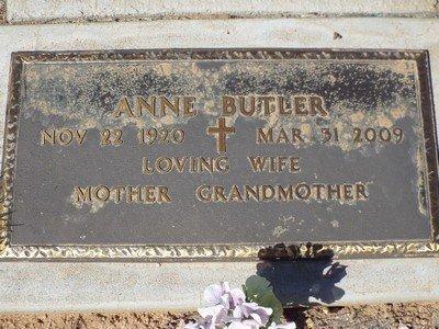 BUTLER, ANNE - Yavapai County, Arizona | ANNE BUTLER - Arizona Gravestone Photos