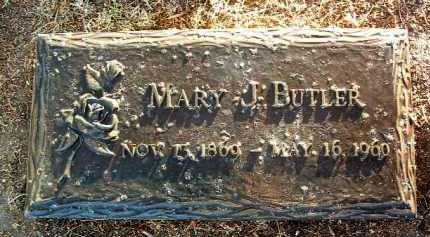 BUTLER, MARY J. - Yavapai County, Arizona | MARY J. BUTLER - Arizona Gravestone Photos