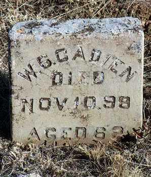 CADIEN, WILLIAM GEORGE (W. G.) - Yavapai County, Arizona   WILLIAM GEORGE (W. G.) CADIEN - Arizona Gravestone Photos
