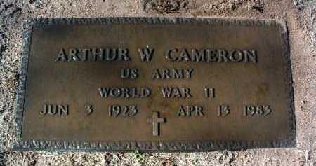 CAMERON, ARTHUR WILLIAM - Yavapai County, Arizona   ARTHUR WILLIAM CAMERON - Arizona Gravestone Photos