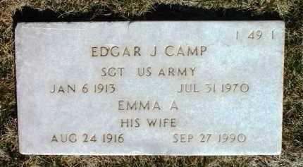 CAMP, EDGAR J. - Yavapai County, Arizona | EDGAR J. CAMP - Arizona Gravestone Photos