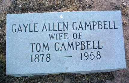 CAMPBELL, ELINOR GAYLE A. - Yavapai County, Arizona | ELINOR GAYLE A. CAMPBELL - Arizona Gravestone Photos