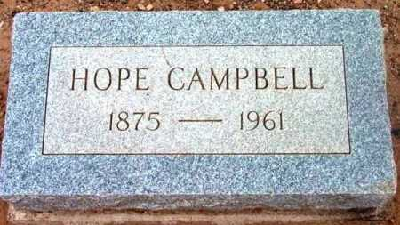 CAMPBELL, HOPE - Yavapai County, Arizona | HOPE CAMPBELL - Arizona Gravestone Photos
