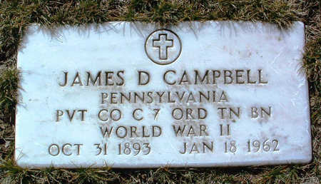 CAMPBELL, JAMES D. - Yavapai County, Arizona   JAMES D. CAMPBELL - Arizona Gravestone Photos