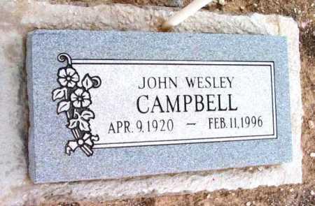 CAMPBELL, JOHN WESLEY - Yavapai County, Arizona | JOHN WESLEY CAMPBELL - Arizona Gravestone Photos