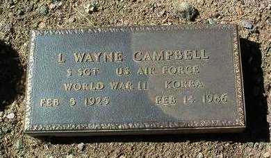 CAMPBELL, LEONARD WAYNE - Yavapai County, Arizona | LEONARD WAYNE CAMPBELL - Arizona Gravestone Photos