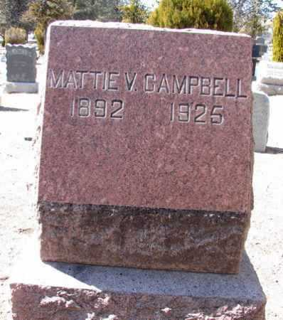 CAMPBELL, MATTIE VIRGINIA - Yavapai County, Arizona | MATTIE VIRGINIA CAMPBELL - Arizona Gravestone Photos
