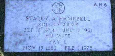 CAMPBELL, STALEY A. - Yavapai County, Arizona | STALEY A. CAMPBELL - Arizona Gravestone Photos