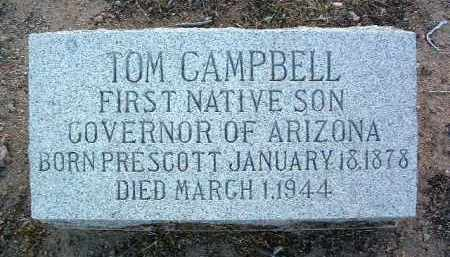 CAMPBELL, THOMAS EDWARD - Yavapai County, Arizona | THOMAS EDWARD CAMPBELL - Arizona Gravestone Photos
