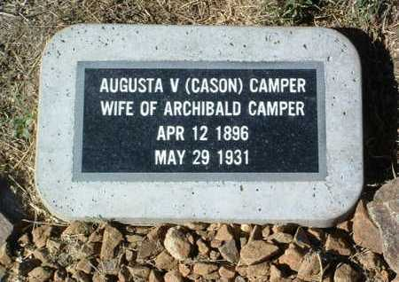 CAMPER, AUGUSTA V. - Yavapai County, Arizona   AUGUSTA V. CAMPER - Arizona Gravestone Photos