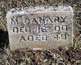 CANARY, M. - Yavapai County, Arizona   M. CANARY - Arizona Gravestone Photos