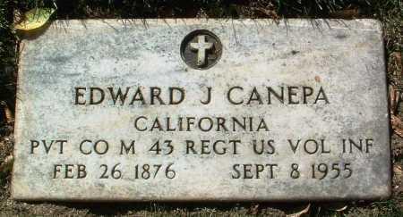 CANEPA, EDWARD JOSEPH - Yavapai County, Arizona | EDWARD JOSEPH CANEPA - Arizona Gravestone Photos