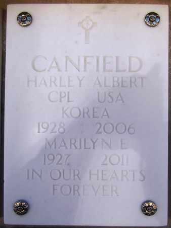 CANFIELD, HARLEY ALBERT - Yavapai County, Arizona | HARLEY ALBERT CANFIELD - Arizona Gravestone Photos