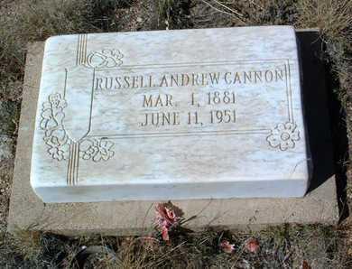 CANNON, RUSSELL ANDREW - Yavapai County, Arizona | RUSSELL ANDREW CANNON - Arizona Gravestone Photos