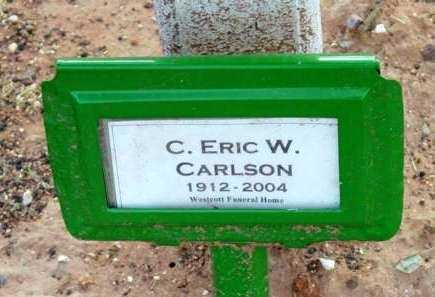 CARLSON, C. ERIC W. - Yavapai County, Arizona | C. ERIC W. CARLSON - Arizona Gravestone Photos