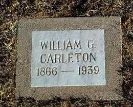 CARLETON, WILLIAM GOFFREY - Yavapai County, Arizona   WILLIAM GOFFREY CARLETON - Arizona Gravestone Photos