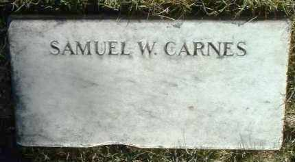 CARNES, SAMUEL W. - Yavapai County, Arizona | SAMUEL W. CARNES - Arizona Gravestone Photos