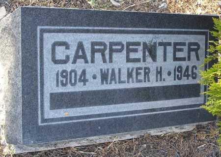 CARPENTER, WALKER H. - Yavapai County, Arizona   WALKER H. CARPENTER - Arizona Gravestone Photos