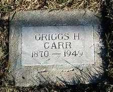 CARR, GRIGGS H. - Yavapai County, Arizona | GRIGGS H. CARR - Arizona Gravestone Photos
