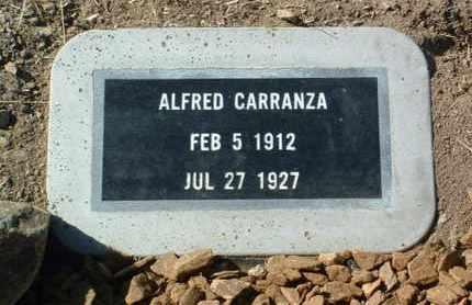 CARRANZA, ALFRED - Yavapai County, Arizona   ALFRED CARRANZA - Arizona Gravestone Photos