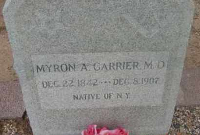 CARRIER, MYRON ALDELBERT, M.D. - Yavapai County, Arizona | MYRON ALDELBERT, M.D. CARRIER - Arizona Gravestone Photos