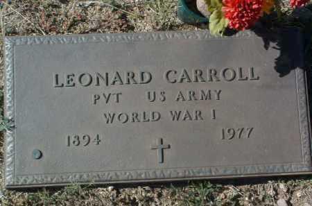 CARROLL, LEONARD - Yavapai County, Arizona | LEONARD CARROLL - Arizona Gravestone Photos
