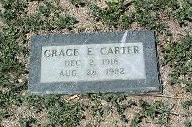 CARTER, GRACE E. - Yavapai County, Arizona | GRACE E. CARTER - Arizona Gravestone Photos