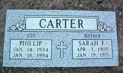 CARTER, SARAH FRANCES - Yavapai County, Arizona | SARAH FRANCES CARTER - Arizona Gravestone Photos