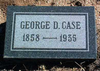 CASE, GEORGE D. - Yavapai County, Arizona   GEORGE D. CASE - Arizona Gravestone Photos