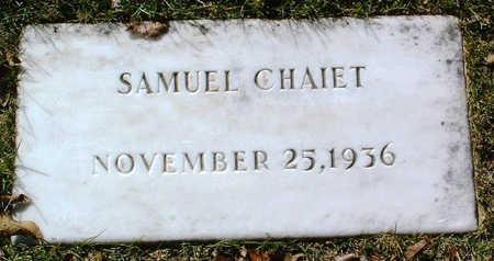 CHAIET, SAMUEL - Yavapai County, Arizona | SAMUEL CHAIET - Arizona Gravestone Photos