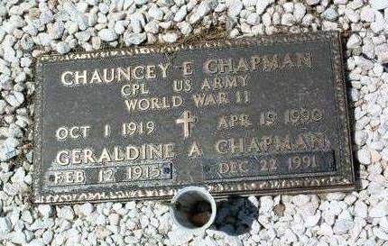 CHAPMAN, GERALDINE A. - Yavapai County, Arizona | GERALDINE A. CHAPMAN - Arizona Gravestone Photos