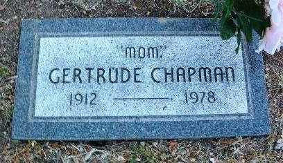 CHAPMAN, GERTRUDE LOUISE - Yavapai County, Arizona | GERTRUDE LOUISE CHAPMAN - Arizona Gravestone Photos