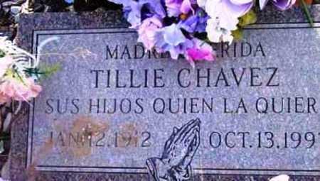 CHAVEZ, TILLIE - Yavapai County, Arizona   TILLIE CHAVEZ - Arizona Gravestone Photos