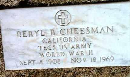 CHEESMAN, BERYL B. - Yavapai County, Arizona | BERYL B. CHEESMAN - Arizona Gravestone Photos