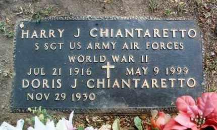 CHIANTARETTO, HARRY J. - Yavapai County, Arizona   HARRY J. CHIANTARETTO - Arizona Gravestone Photos
