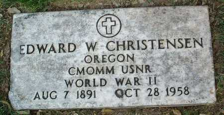 CHRISTENSEN, EDWARD W. - Yavapai County, Arizona | EDWARD W. CHRISTENSEN - Arizona Gravestone Photos
