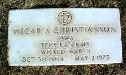 CHRISTIANSON, OSCAR A. - Yavapai County, Arizona   OSCAR A. CHRISTIANSON - Arizona Gravestone Photos