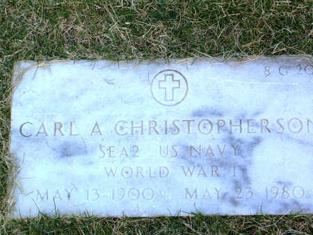 CHRISTOPHERSON, CARL A. - Yavapai County, Arizona   CARL A. CHRISTOPHERSON - Arizona Gravestone Photos