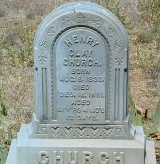CHURCH, HENRY CLAY - Yavapai County, Arizona | HENRY CLAY CHURCH - Arizona Gravestone Photos