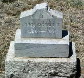 CICERELLI, JOHN B. - Yavapai County, Arizona | JOHN B. CICERELLI - Arizona Gravestone Photos