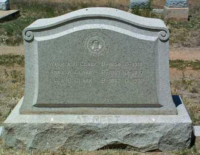 GILCHRIST CLARK, ANNA A. - Yavapai County, Arizona | ANNA A. GILCHRIST CLARK - Arizona Gravestone Photos