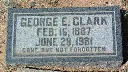 CLARK, GEORGE  E. - Yavapai County, Arizona   GEORGE  E. CLARK - Arizona Gravestone Photos