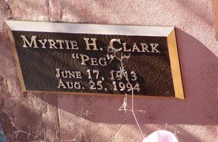 CLARK, MYRTIE H.  (PEG) - Yavapai County, Arizona | MYRTIE H.  (PEG) CLARK - Arizona Gravestone Photos