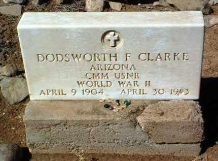 CLARKE, DODSWORTH FRANK - Yavapai County, Arizona   DODSWORTH FRANK CLARKE - Arizona Gravestone Photos