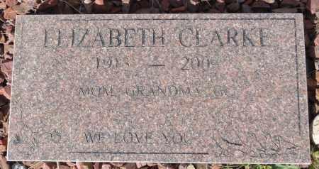 CLARKE, ELIZABETH - Yavapai County, Arizona   ELIZABETH CLARKE - Arizona Gravestone Photos