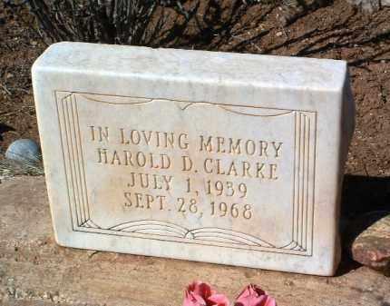 CLARKE, HAROLD DUANE - Yavapai County, Arizona   HAROLD DUANE CLARKE - Arizona Gravestone Photos