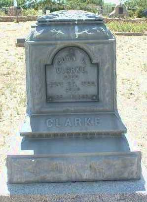 CLARKE, JOHN C. - Yavapai County, Arizona   JOHN C. CLARKE - Arizona Gravestone Photos