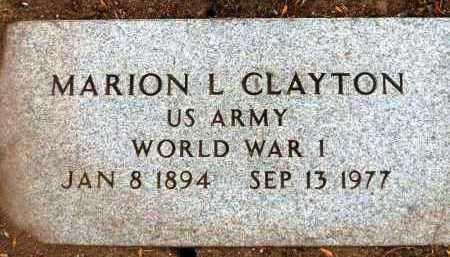 CLAYTON, MARION LESLIE - Yavapai County, Arizona   MARION LESLIE CLAYTON - Arizona Gravestone Photos