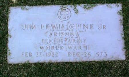 CLINE, JIM LEWIS, JR. - Yavapai County, Arizona | JIM LEWIS, JR. CLINE - Arizona Gravestone Photos